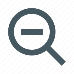 gizmo, interface, magnifying glass, out, simple, web, zoom icon