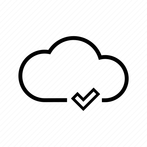 cloud, completed, downloaded, storage, uploaded, web icon
