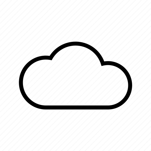 cloud, cloudy, storage, weather, web icon