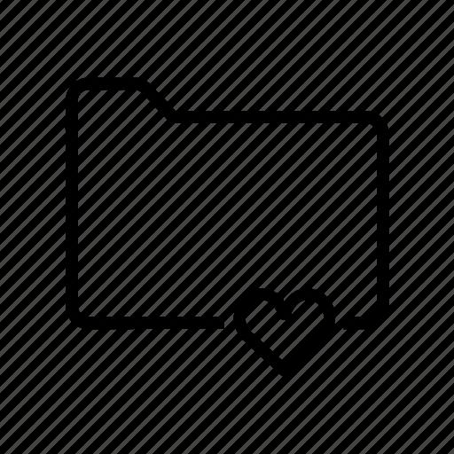 document, favorite, file, folder, heart icon