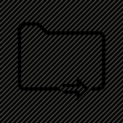 arrow, document, file, folder, next icon