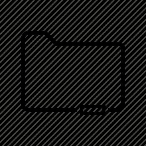 document, file, folder, minus, unselect icon