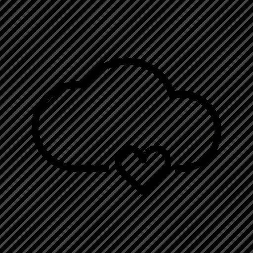 cloud, favorite, heart, storage, web icon