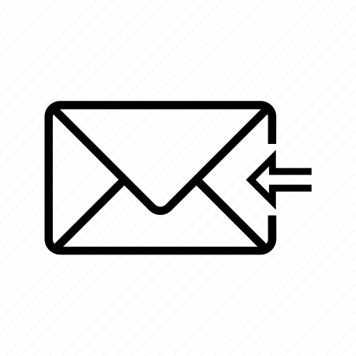 arrow, back, inbox, letter, mail, previous, web icon