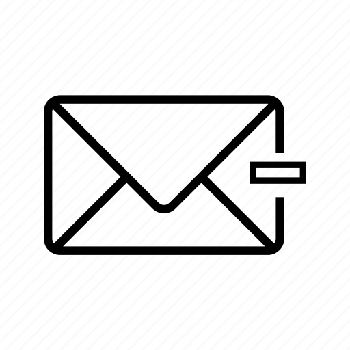 inbox, letter, mail, minus, unselect, web icon