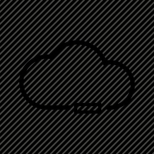 cloud, minus, storage, unselect, web icon