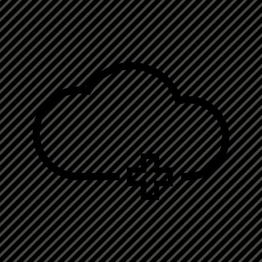 add, cloud, plus, storage, web icon