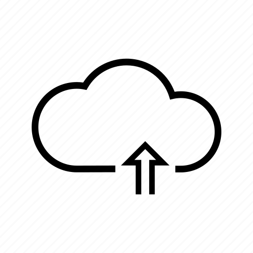 arrow, cloud, storage, upload, web icon