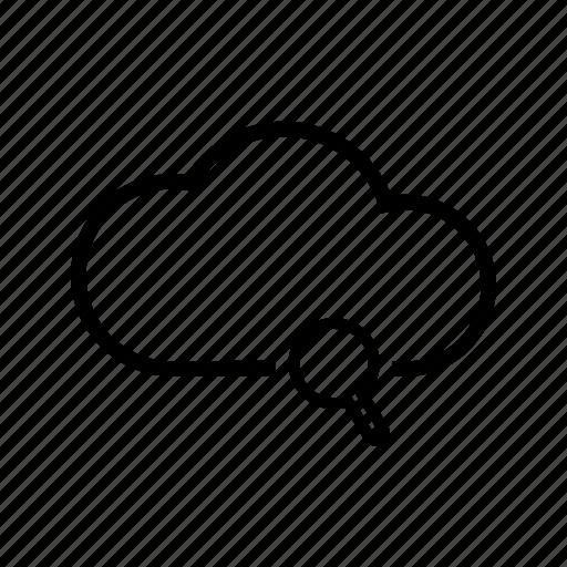 cloud, loupe, search, storage, web icon