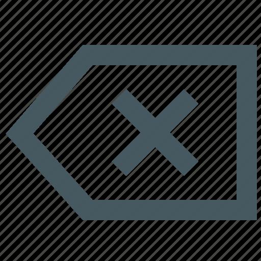 backspace, gizmo, interface, web icon