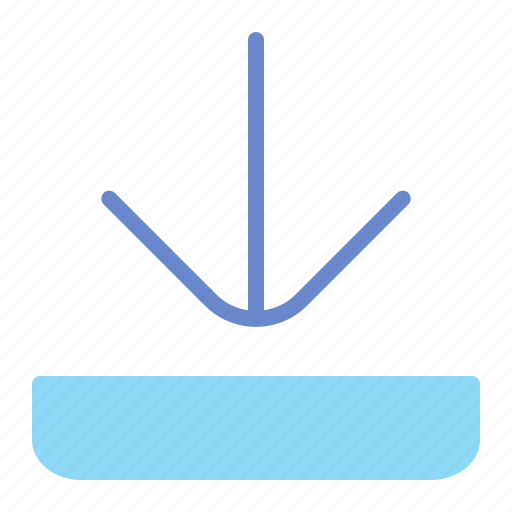arrow, down, download, transfer icon