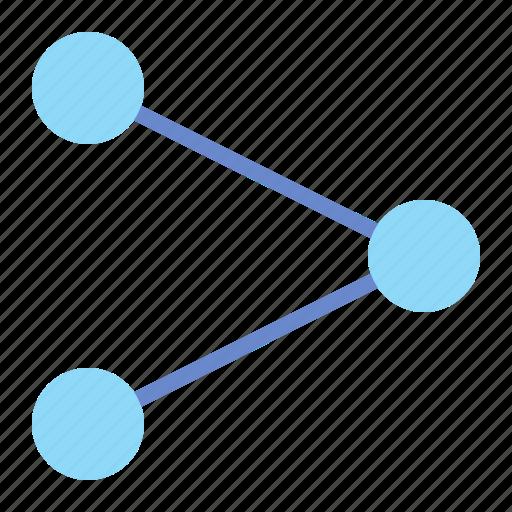 network, send, share, spread icon