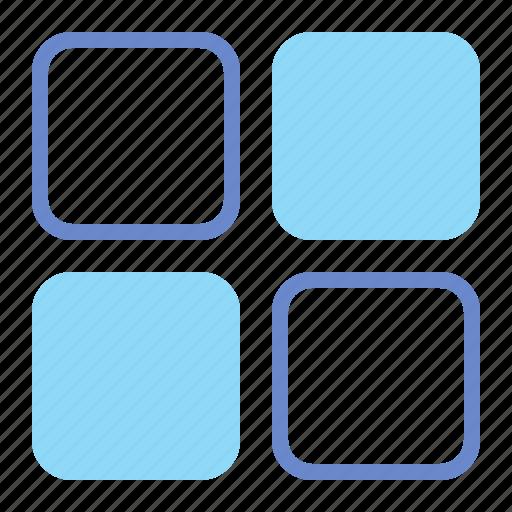 blocks, layout, tiles, website icon