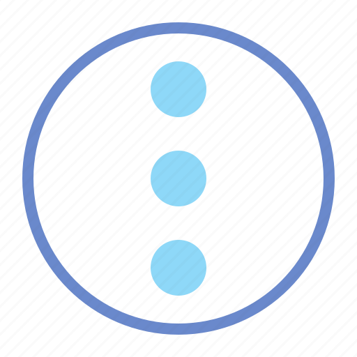 dots, menu, more icon
