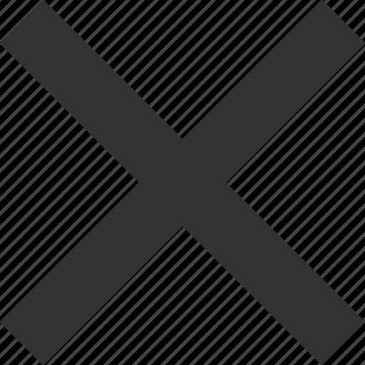 cancel, close, cross, delete, mark, remove, trash icon
