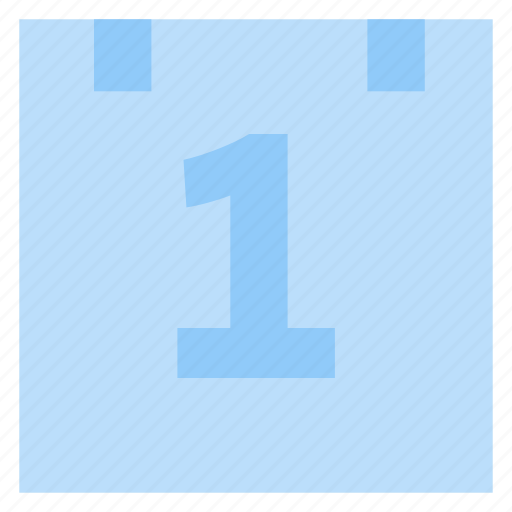 calendar, date, first number, schedule, time icon