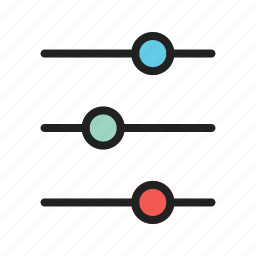 bar, elements, slide, slider, ui, web icon