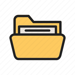 document, file, folder, information, interface, storage, web icon