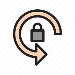 auto, interface, locked, mobile, rotation, site, web icon