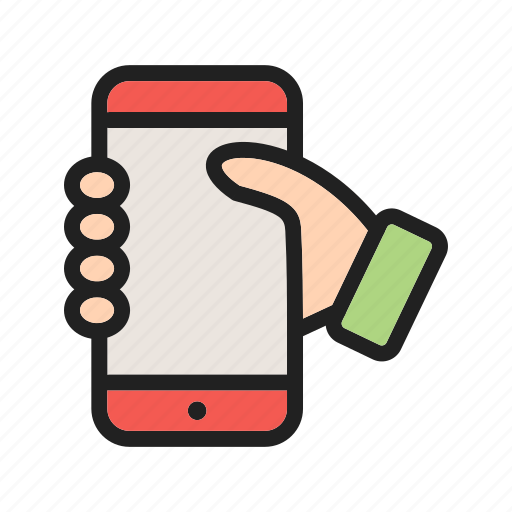 hold, holding, mobile, phone, photo, screen, smartphone icon