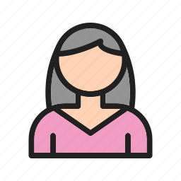 female, graphic, interface, sign, style, user, web icon