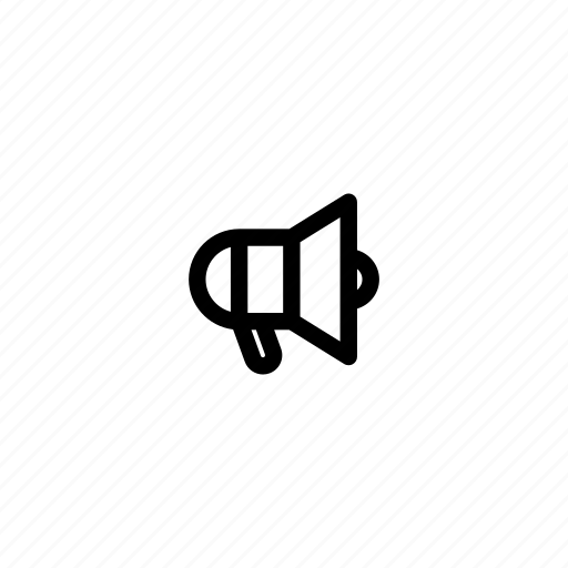 audio, megaphone, music, mute, sound, speaker, volume icon
