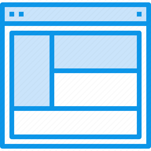 design, interface, layout, page, web, website icon
