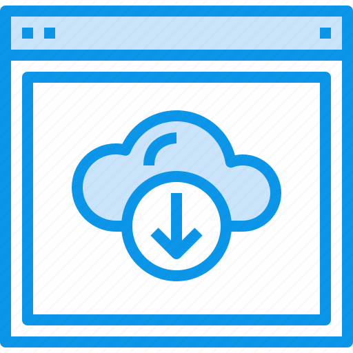 browser, cloud, design, download, interface, layout, web, website icon