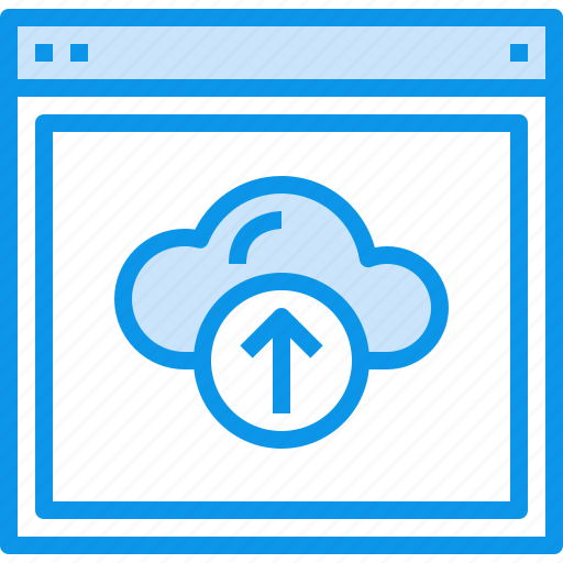 browser, cloud, design, interface, layout, upload, web, website icon