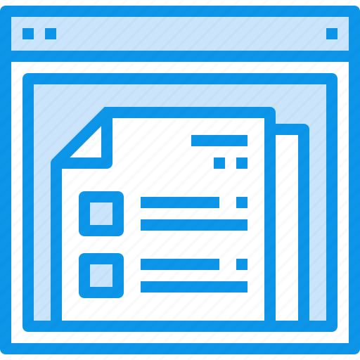 browser, design, document, interface, layout, list, web, website icon