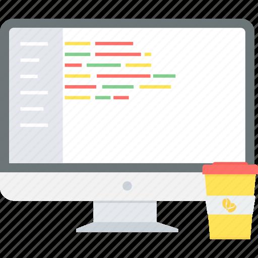 barcode, code, coding, development, html, programming icon