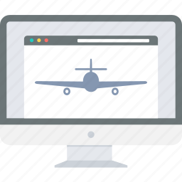aeroplane, design, landing, layout, page, website icon