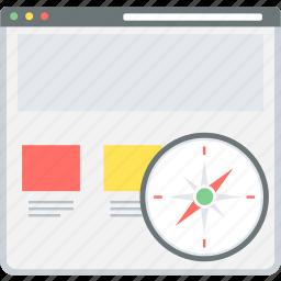 gps, navigation, page, site, web, website icon