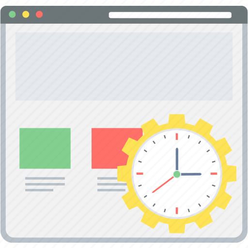 load, page, site, time, web, website icon