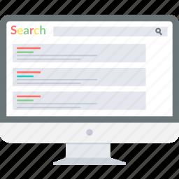 computer search, google result, google search, internet, optimization, search, web icon