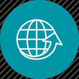 aroundtheworld, globe, round, travel, world icon
