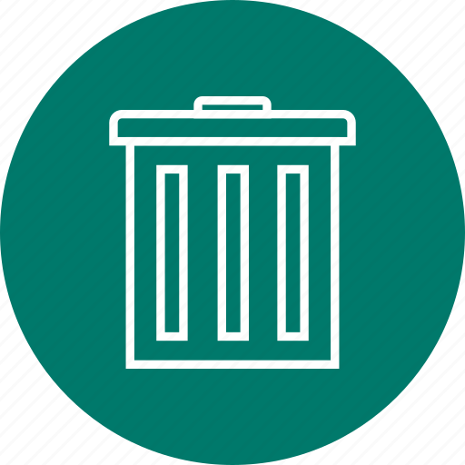 bin, dustbin, empty, remove, trash icon