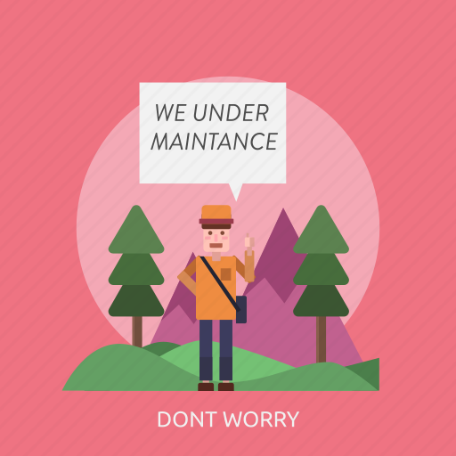 connection, dont, internet, maintenance, technology, website, worry icon