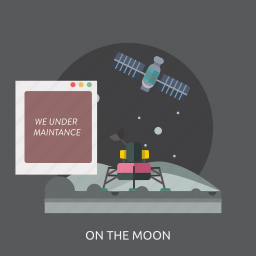 connection, internet, maintenance, moon, space, technology, website icon