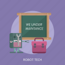 connection, internet, maintenance, robot, tech, technology, website icon