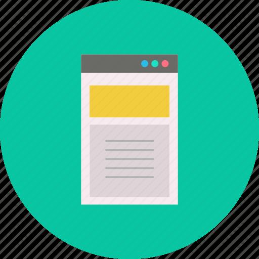 Computer, content, digital, mobile, web, website icon - Download on Iconfinder