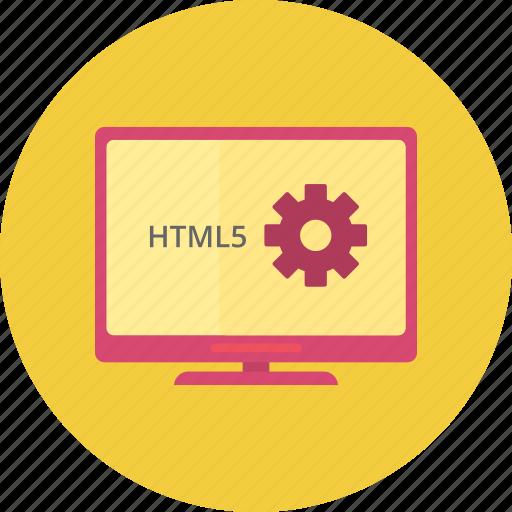 code, html coding, program, web, website icon
