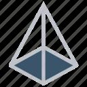 design, development, geometry, modeling, shape, triangle icon