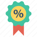 badge, discount, discount offer, discount tag, percent, percentage, sale icon