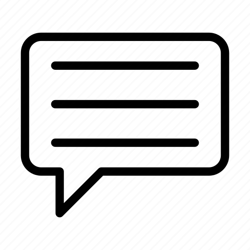 bubble, dialog, message, speech, text icon