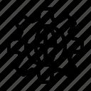 cogwheel, global, internet, setting, world icon