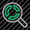 chart, graph, mathematics, search, statistics icon