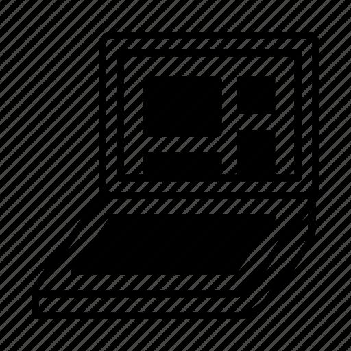blocks, dev, device, grid, laptop, layout icon