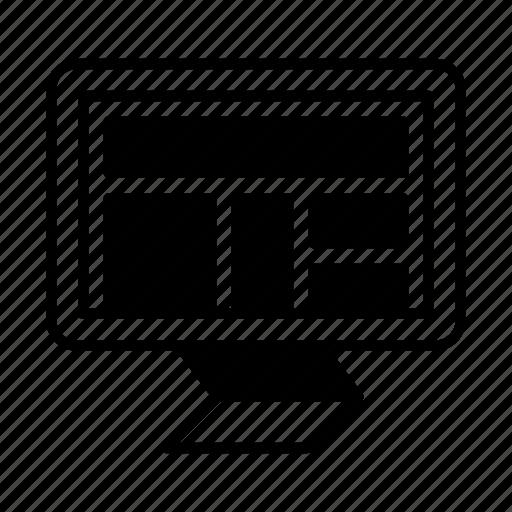 blocks, dev, grid, layout, monitor, screen icon
