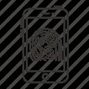 finger, fingerprint, scan, scanner, security, smartphone